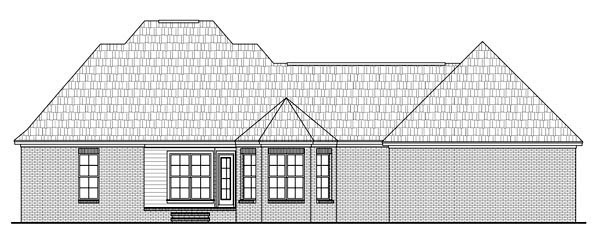 Country European Traditional House Plan 59199 Rear Elevation