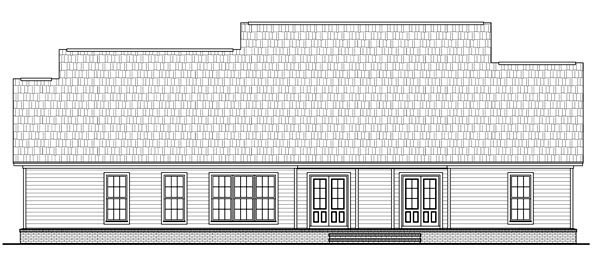 Country Farmhouse Traditional House Plan 59202 Rear Elevation