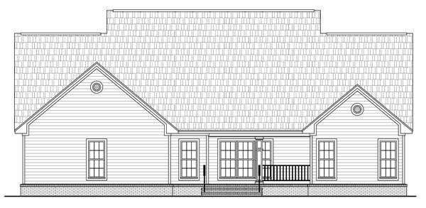 Country Southern House Plan 59205 Rear Elevation