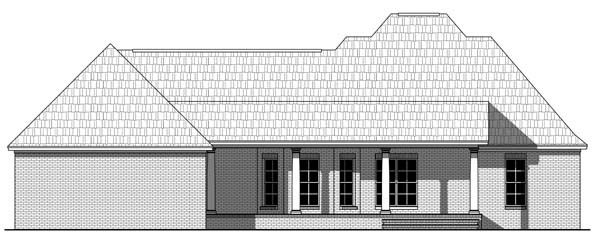 Country Farmhouse Southern Traditional House Plan 59211 Rear Elevation