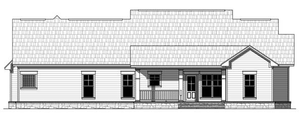 Bungalow Craftsman Traditional House Plan 59212 Rear Elevation