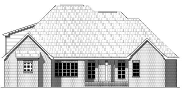 Country European Traditional House Plan 59220 Rear Elevation
