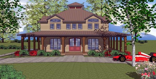 Cottage Florida Southern House Plan 59303 Elevation