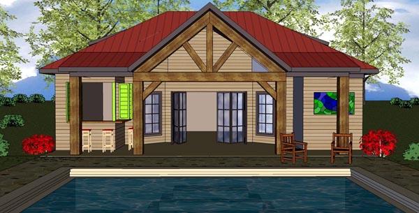 Cottage Craftsman House Plan 59308 Elevation
