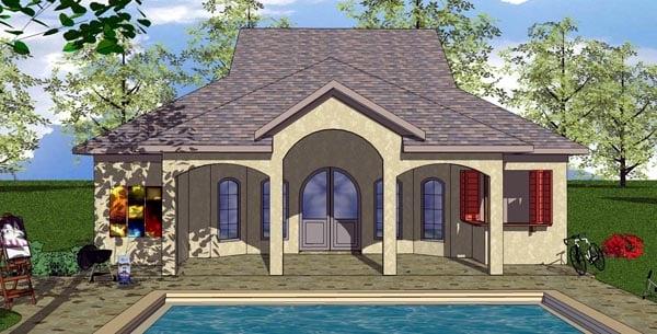 Cottage Florida Southern House Plan 59330 Elevation