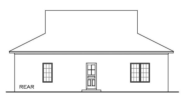 Cottage Florida Southern House Plan 59330 Rear Elevation