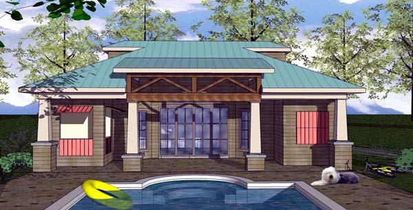 Cottage Craftsman House Plan 59349 Elevation