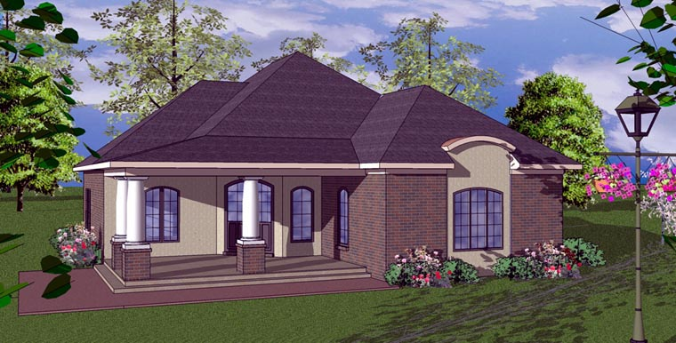 Cottage Florida Southern House Plan 59360 Elevation