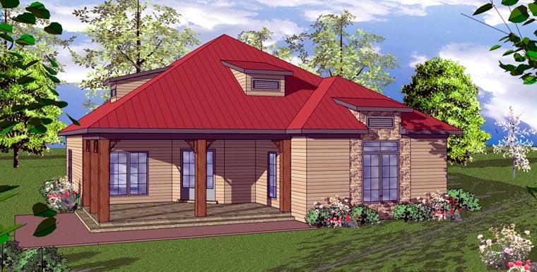 Cottage Florida Southern House Plan 59361 Elevation