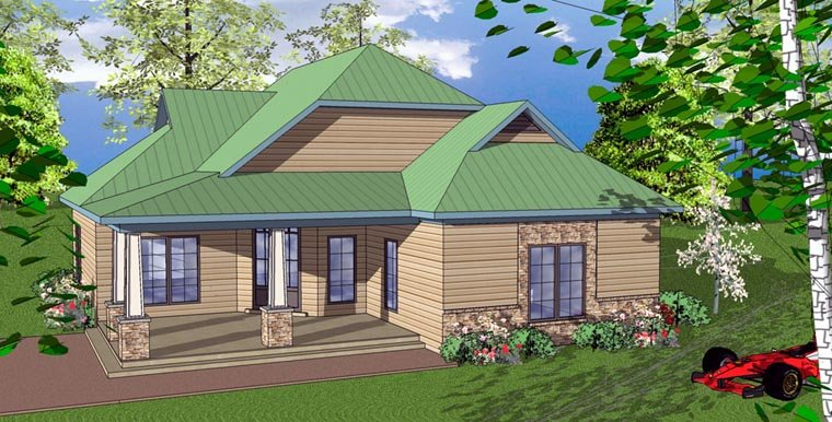 Cottage Florida Southern House Plan 59363 Elevation