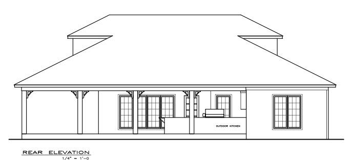 Coastal Southern House Plan 59391 Rear Elevation
