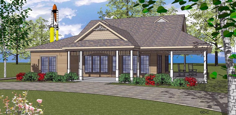 Coastal Southern House Plan 59392 Elevation