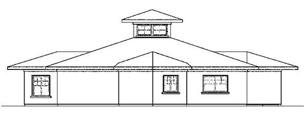 Florida Mediterranean Southern House Plan 59400 Rear Elevation