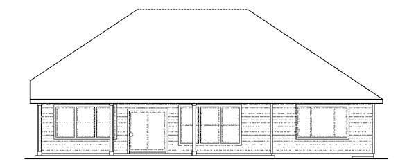 Cape Cod Cottage Craftsman Ranch House Plan 59404 Rear Elevation