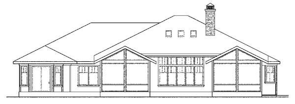 Contemporary Craftsman Prairie Style Southwest House Plan 59410 Rear Elevation