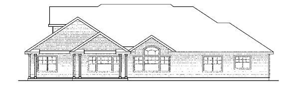 Cape Cod Cottage European Traditional House Plan 59425 Rear Elevation