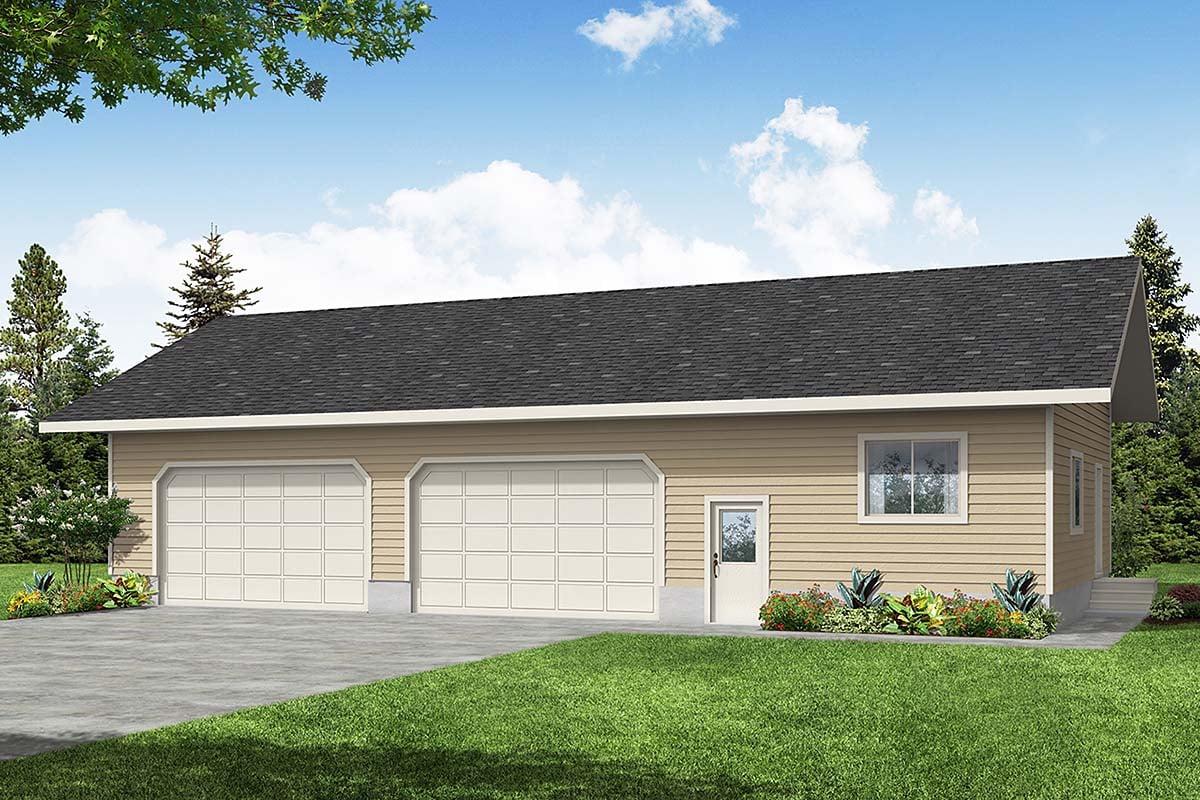 Traditional Garage Plan 59441 Elevation