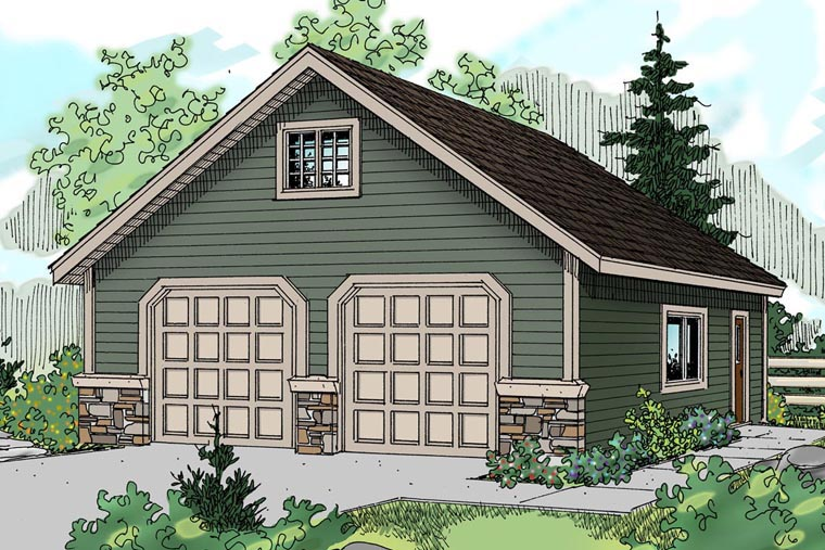 Traditional Garage Plan 59444 Elevation