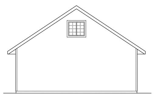 Traditional Garage Plan 59444 Rear Elevation