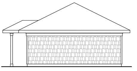 Craftsman Traditional Rear Elevation of Plan 59445