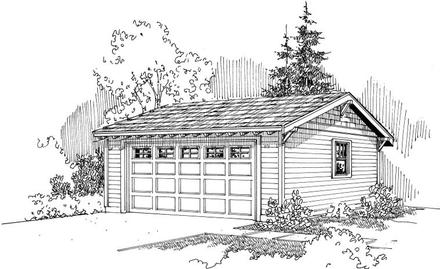 Craftsman Ranch Traditional Elevation of Plan 59448