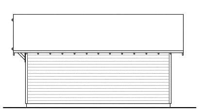 Craftsman Ranch Traditional Rear Elevation of Plan 59448