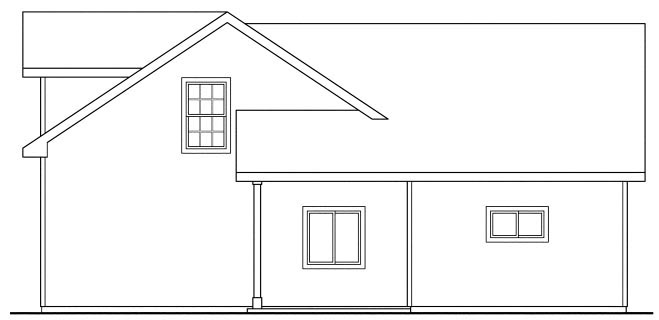 Rear Elevation of Country   Craftsman   Traditional   Garage Plan 59452