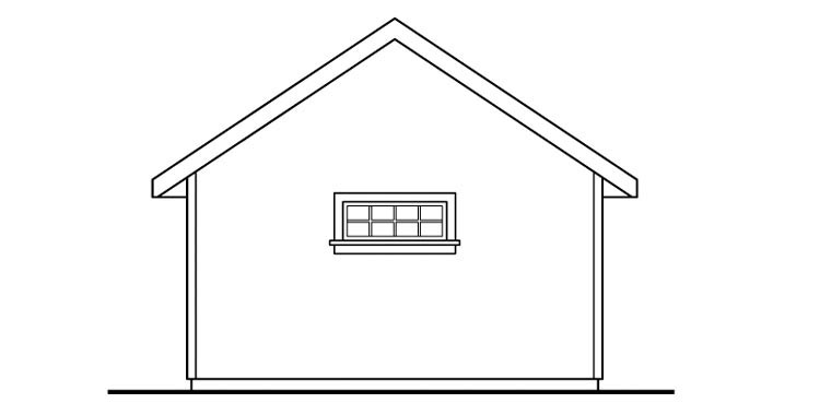 Craftsman Rear Elevation of Plan 59454