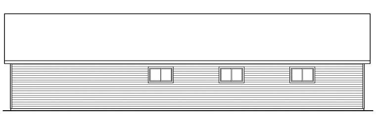 Traditional Garage Plan 59459 Rear Elevation