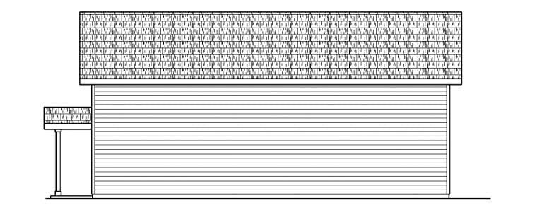 Traditional Garage Plan 59460 Rear Elevation