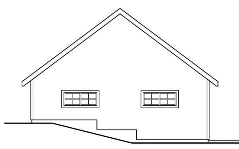 Traditional 2 Car Garage Plan 59462 Rear Elevation