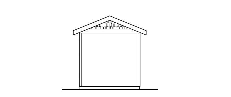 Traditional Rear Elevation of Plan 59463