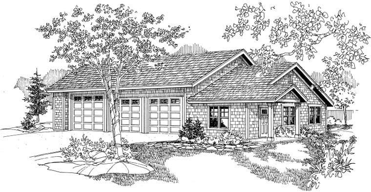 Craftsman Garage Plan 59464 Elevation