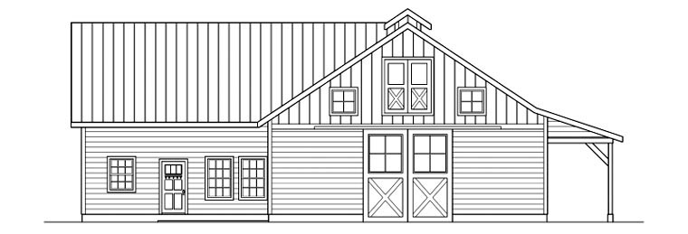Country Garage Plan 59467 Rear Elevation
