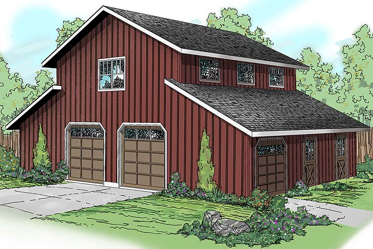 Country Style 0 Car Garage Apartment Plan Number 59474