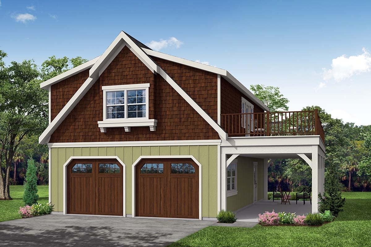 Bungalow Cottage Craftsman Garage Plan 59475 Elevation