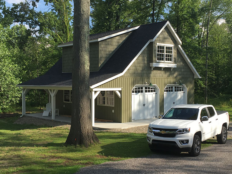 Country, Craftsman, Farmhouse 2 Car Garage Plan 59479 Elevation
