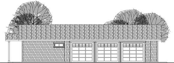 Craftsman 6 Car Garage Plan 59480 Elevation