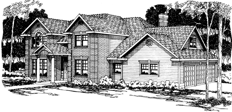 Colonial Traditional House Plan 59482 Elevation
