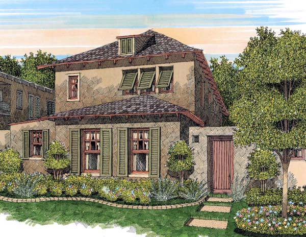 French Country House Plan 59501 with 3 Beds, 3 Baths, 2 Car Garage Elevation