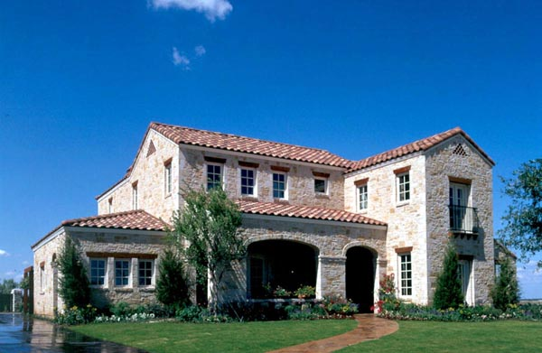 Mediterranean, Traditional House Plan 59506 with 5 Beds, 5 Baths, 2 Car Garage Elevation