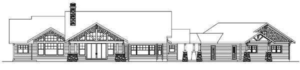 Bungalow Cottage Country Craftsman Ranch House Plan 59732 Rear Elevation