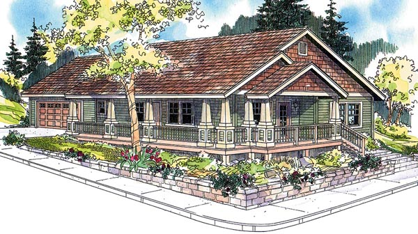 Ranch House Plan 59754