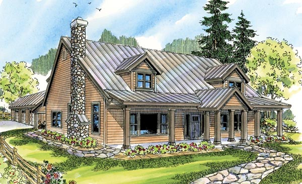 Country Cottage Elevation : House plan at familyhomeplans