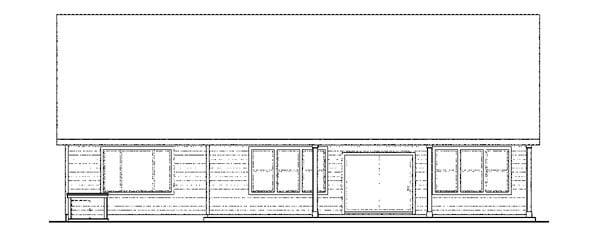 Bungalow Craftsman European Ranch House Plan 59797 Rear Elevation