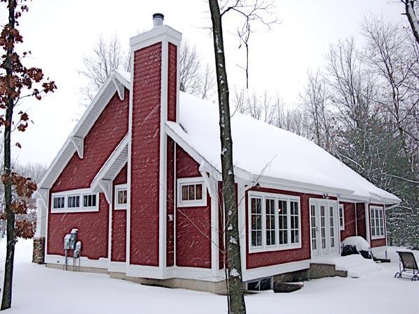 Cottage Craftsman House Plan 59900 Rear Elevation