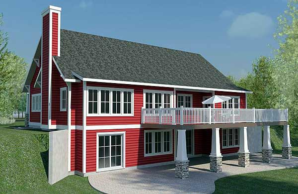 House plan 59917 for Bungalow with walkout basement