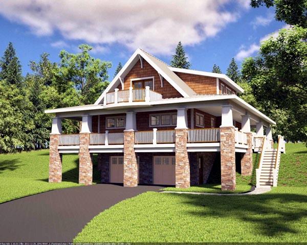House Plan 59923 Elevation