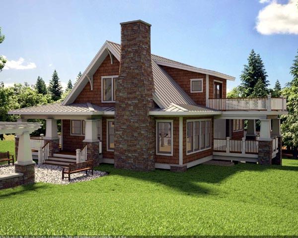House Plan 59923 Rear Elevation