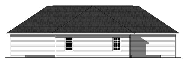 Country, Ranch, Southern Multi-Family Plan 59926 with 6 Beds, 4 Baths Rear Elevation